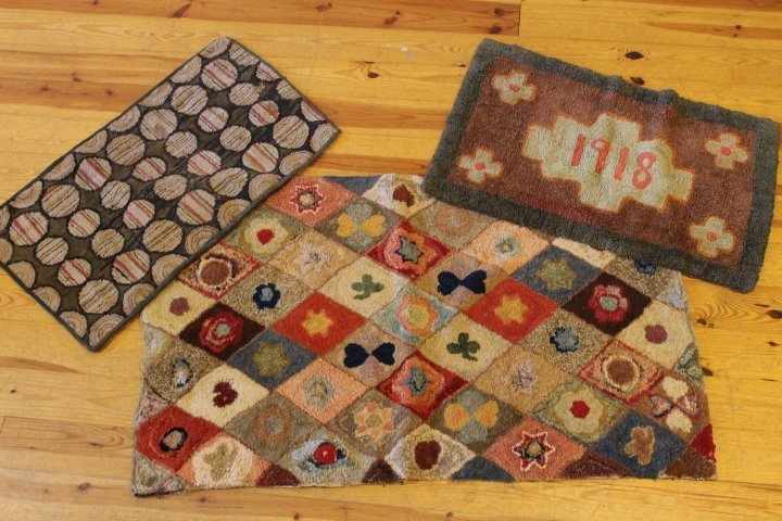 7. Lot of 3 Hooked Rugs