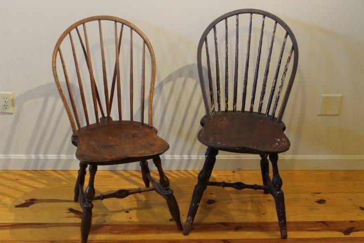 13. 2 Windsor Chairs
