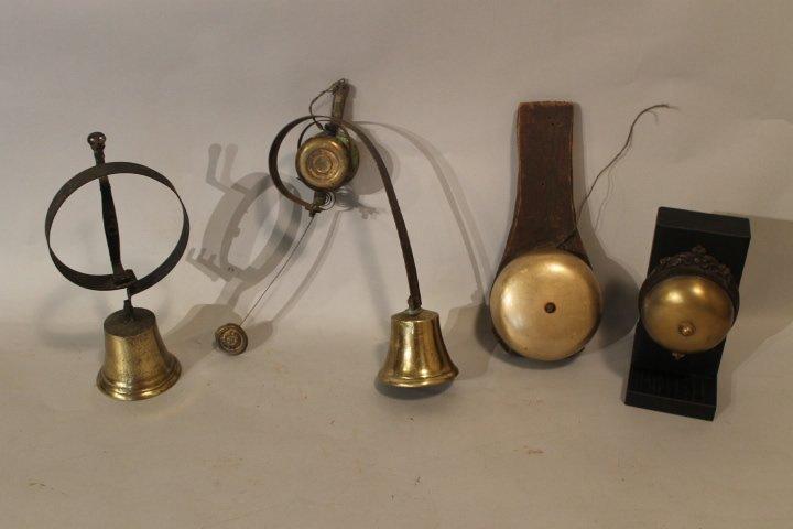 16. Lot of 4 Antique Brass Bells