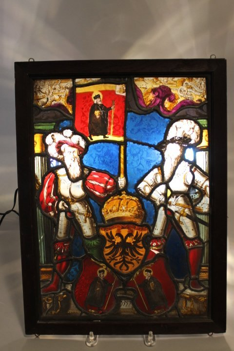 17. Stained Glass Panel dated 1557