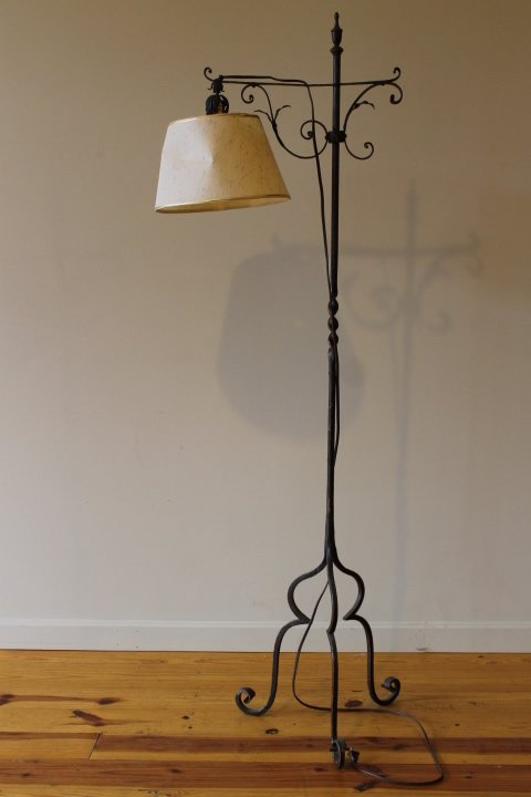 22. Twisted Heavy Iron Standing Lamp