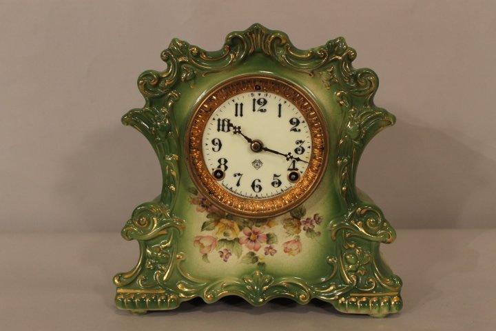 Ansonia Porcelain Cased Clock