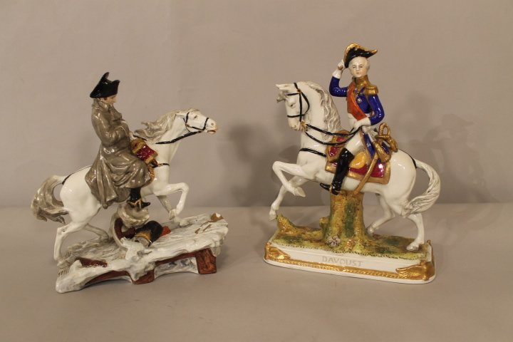 Porcelain Figures on Horseback