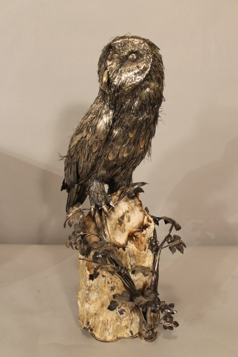 Buccellati Table Sculpture of Owl
