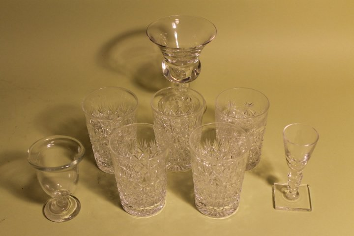 7 Pcs. Of Glassware, Webb, Hawkes