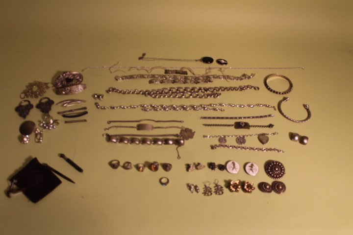 Large Lot of Sterling Jewelry