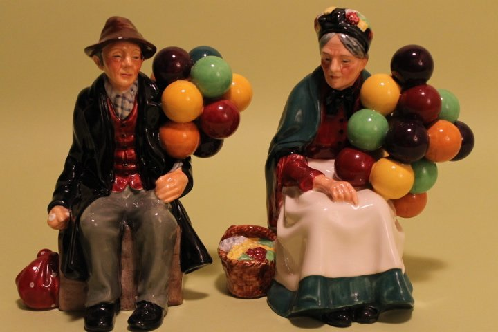 "Royal Doulton ""Balloon Man & Balloon Woman"""