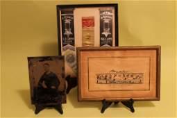 3 Framed Civil War Era Items