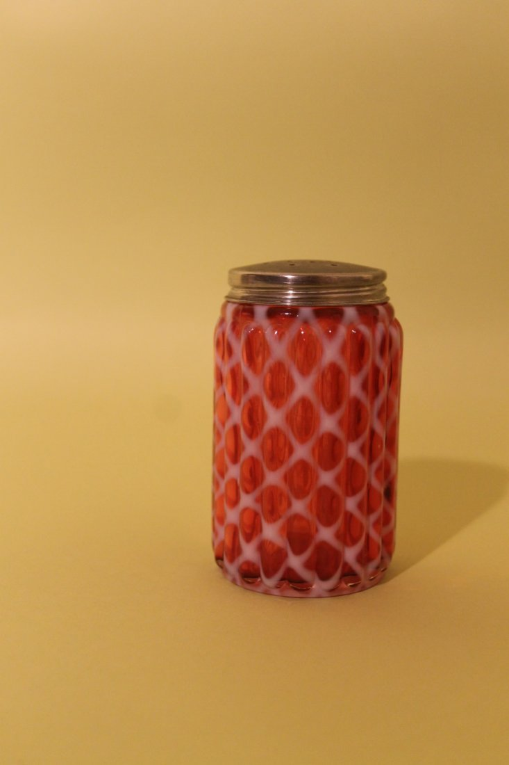 Cranberry and Opalescent Shaker