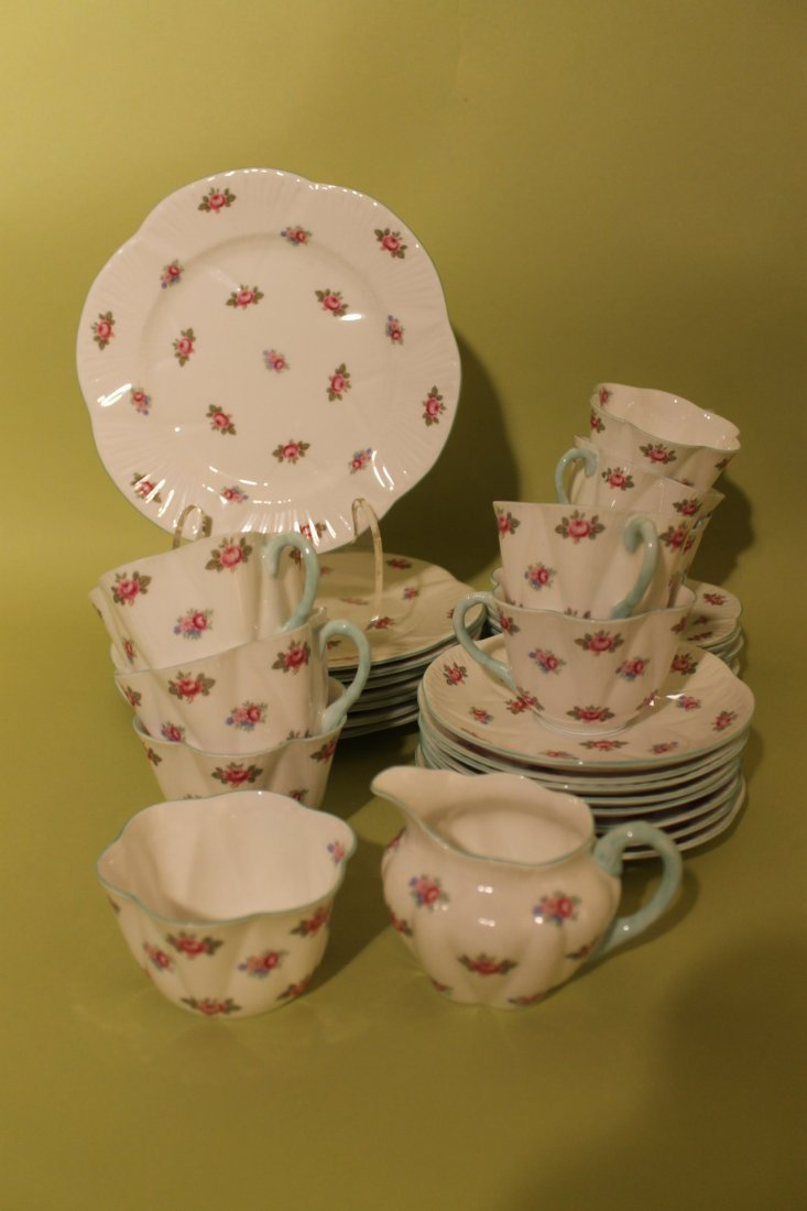 "Shelley Porcelain ""Rosebud"" Pattern"