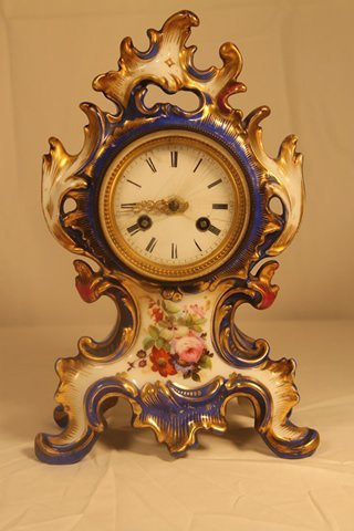 French Porcelain Table Clock