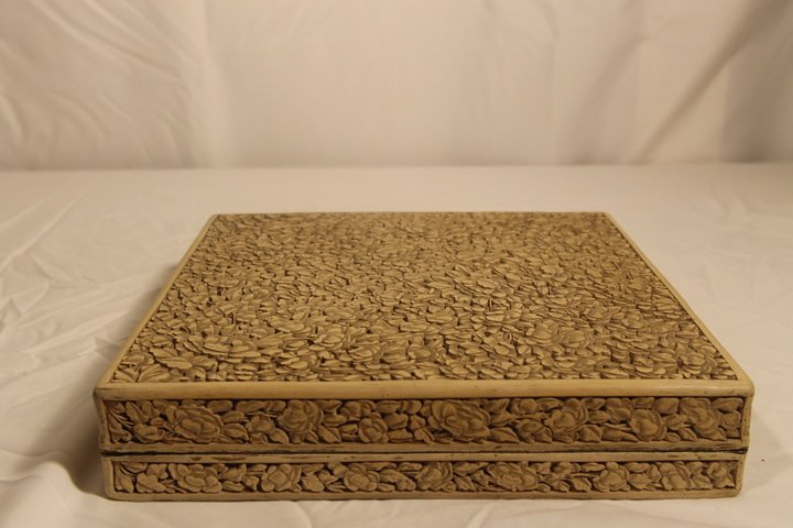 Oriental Carved Fitted Box