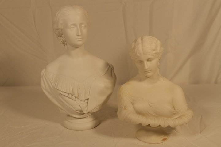 Two Parian Busts