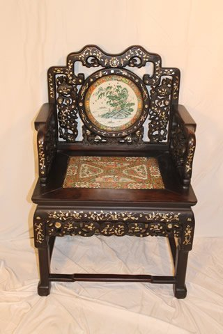 Signed Chinese Throne Chair