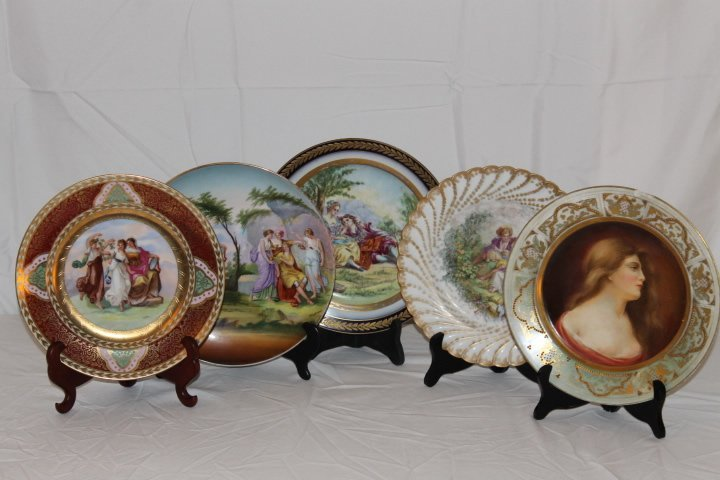 Lot of 5 Cabinet Plates