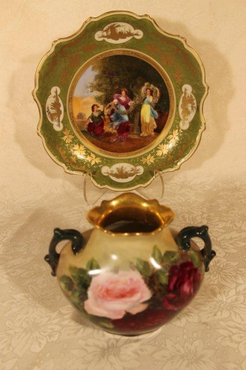 2 Austrian Porcelain Pcs