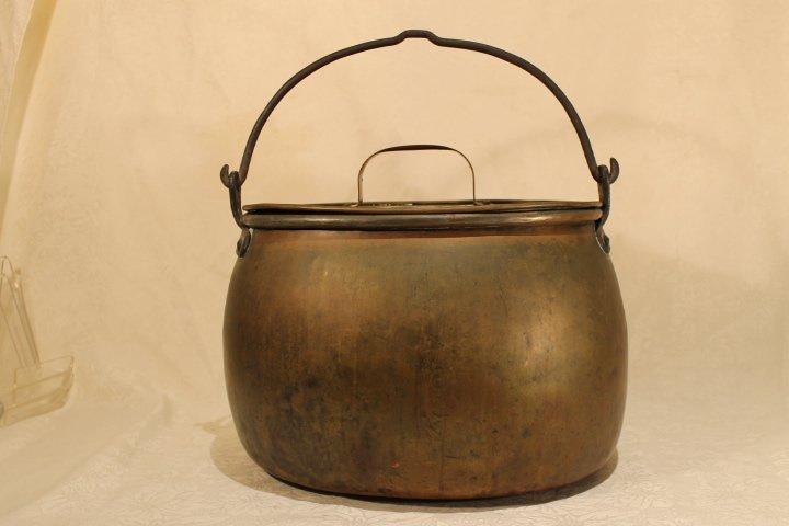 Brass on Copper 19th Century Bucket