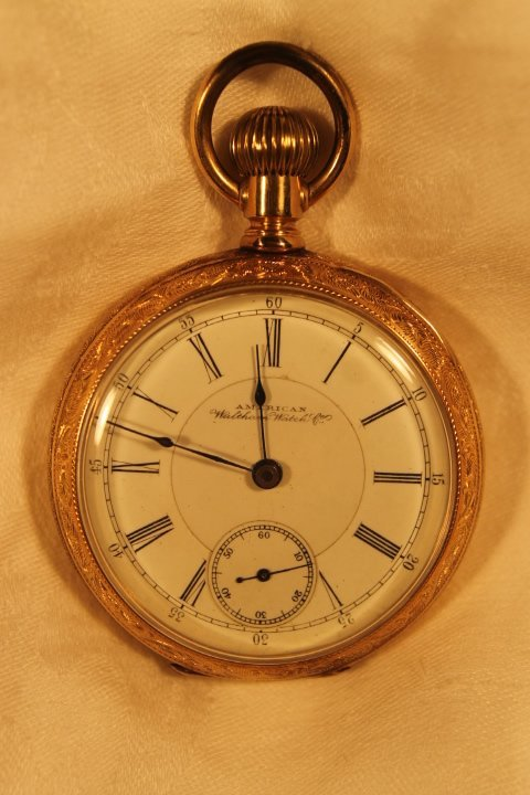 American Waltham Baystate 14KT Gold Pocket Watch
