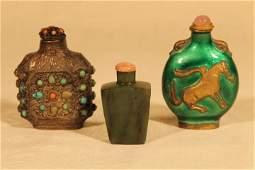 Three Snuff Bottles, Oriental