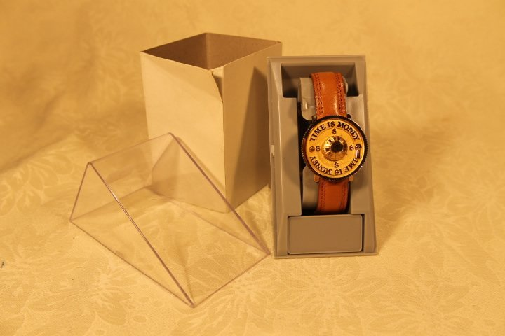 "Vintage Fantasia ""Time is Money"" Watch"