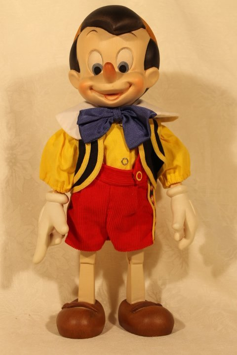 ANRI Wood Carved Pinocchio Sculpture