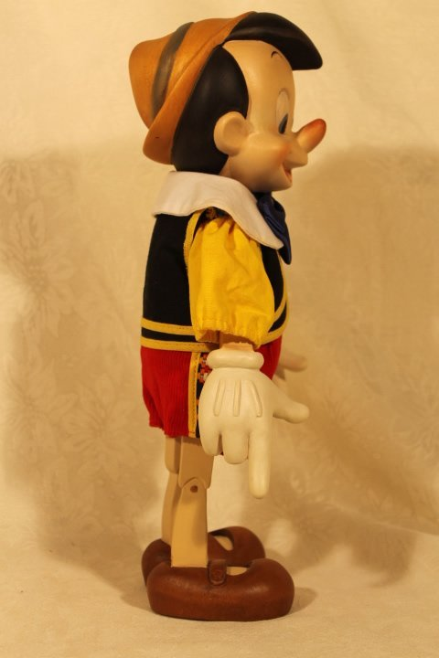 ANRI Wood Carved Pinocchio Sculpture - 5