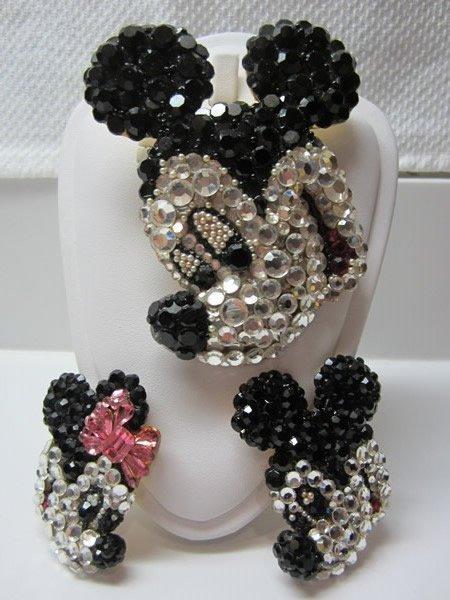 Vintage Wendy Gell Disney Earrings & Brooch Pin