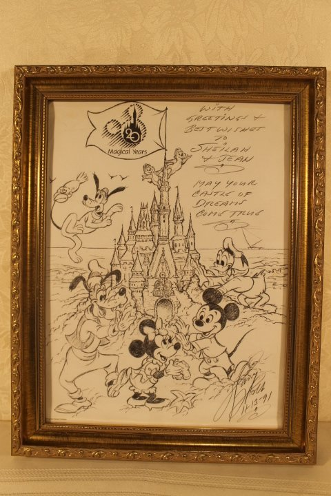 Lot of 4 Disney Sketches by Animator Harry Holt - 4