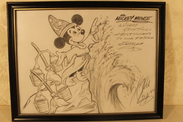 Lot of 4 Disney Sketches by Animator Harry Holt - 8