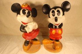 2 Walt Disney Production Sculptures