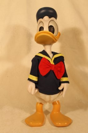 "Anri Woodcarved ""donald Duck"""