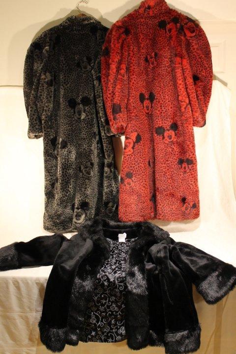 3 Disney Faux Fur Coats