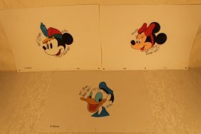 3 Signed Ralph Kent Drawings