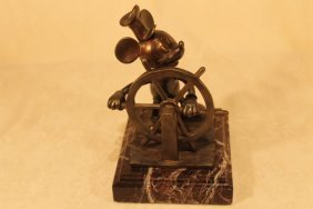 "Disney Bronze ""steamboat Willie"""