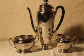 Tiffany & Co. Sterling Silver 3 Pc Tea Set