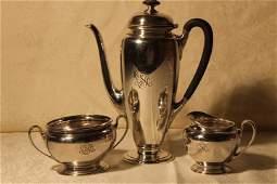 Tiffany & Co. Sterling Silver 3 Pc Tea Set
