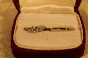 14kt White Gold Bridal Set