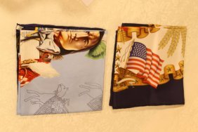 "Two Hermes Scarves, ""americana"""
