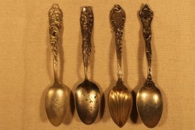 4 Misc Sterling Spoons