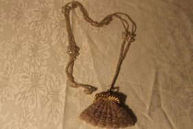 Glass Bodied Change Purse W/ Long Necklace Strap