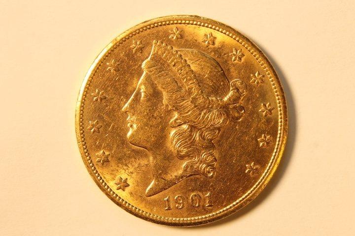 Twenty Dollar US Gold Coin, Encased