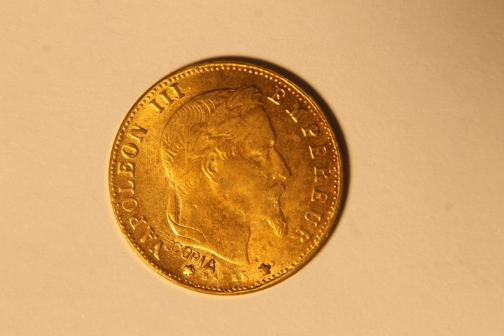 French Napoleon 5 Francs 1865 copy
