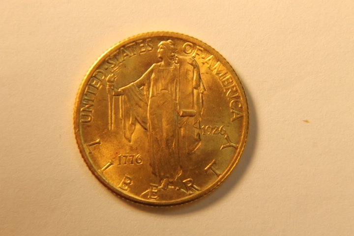 1926 US Sesquicentenial 2 1/2 Dollar Gold Coin