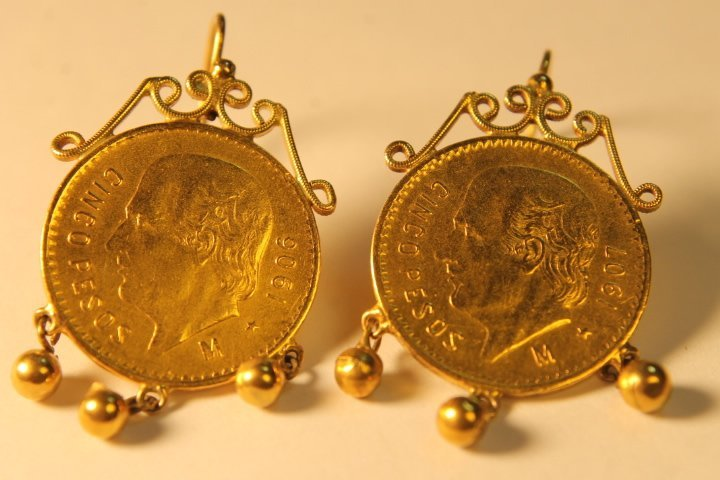 2 Mexican Gold 5 Peso Coins