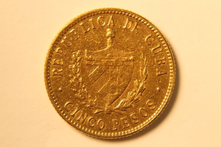 5 Peso Cuban Gold Coin - 2