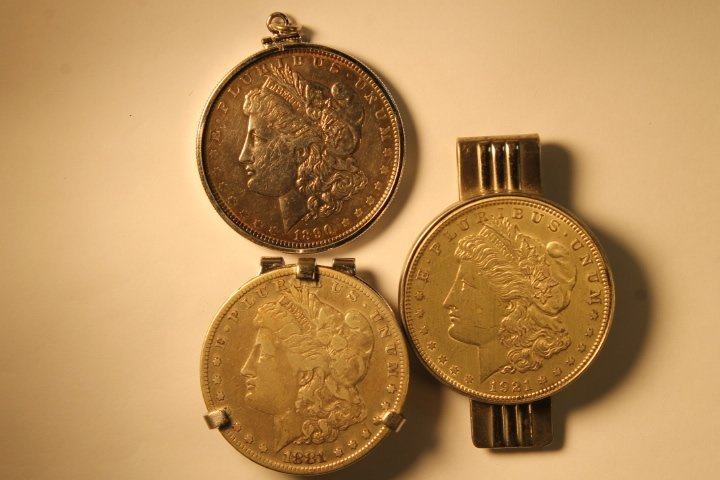Lot of 3 US Morgan Silver Dollars