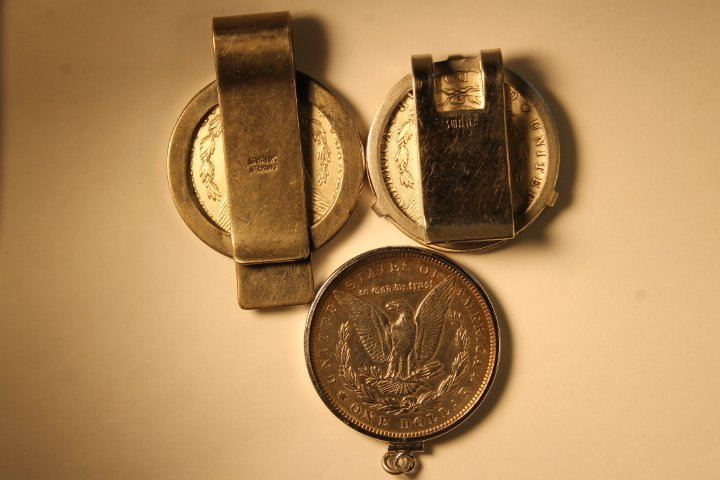 Lot of 3 US Morgan Silver Dollars - 5