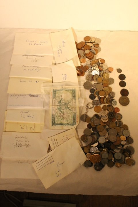 Box Lot of Coins & Paper Money - 2