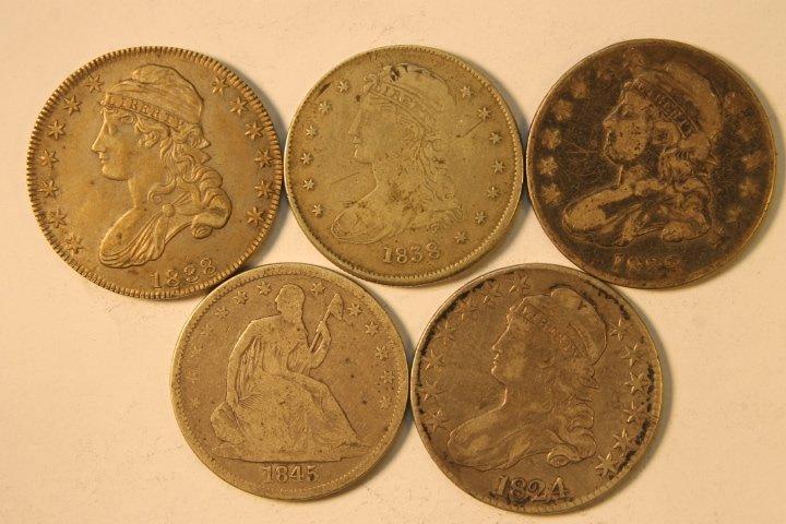 5 Silver US Half Dollars
