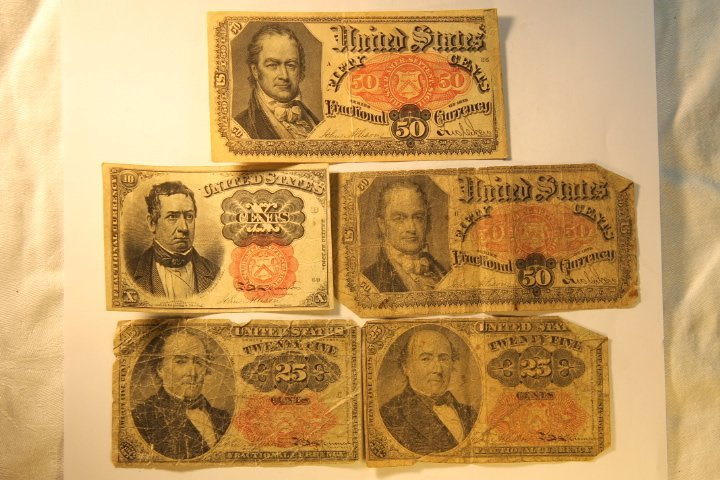 2-50 Dollar Confederate & Fractional Bank Currency - 4